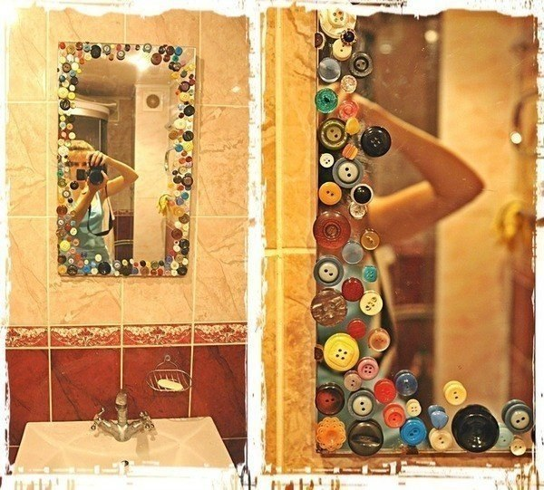 Оформить красиво зеркало своими руками фото