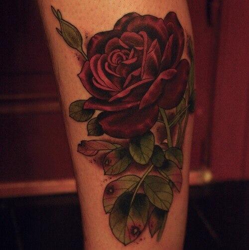 Тату розы на руке у девушек фото