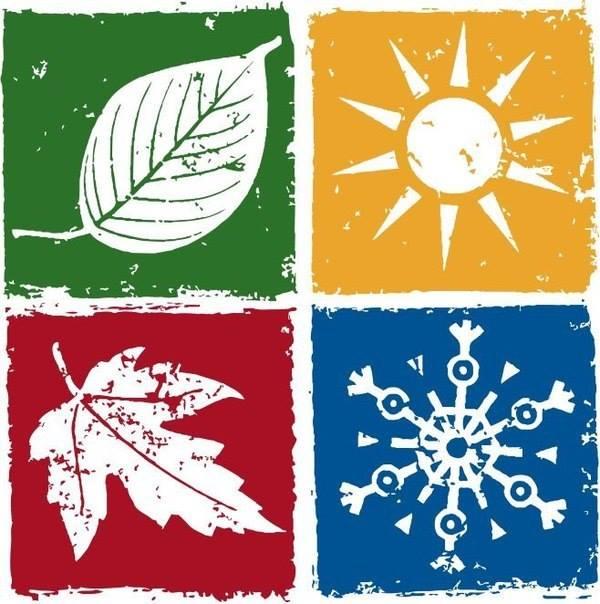 Символы времен года в картинках, юбилеем днем