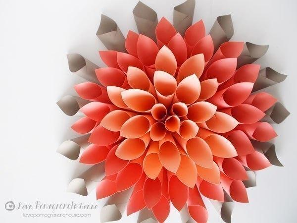 Объемные цветы своими руками из бумаги фото