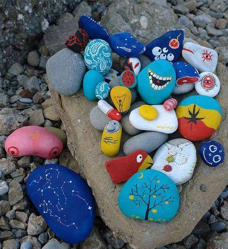 рисунки на камнях поэтапно для начинающих