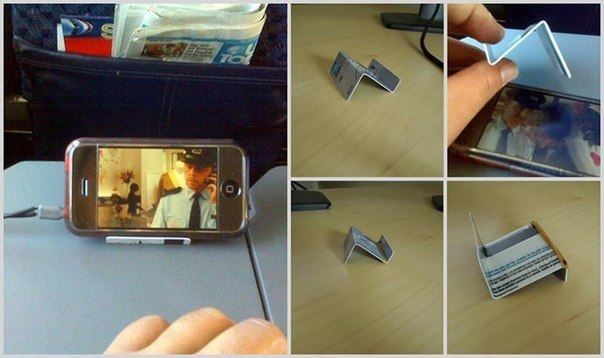 Как сделать из бумаги подставка на телефон