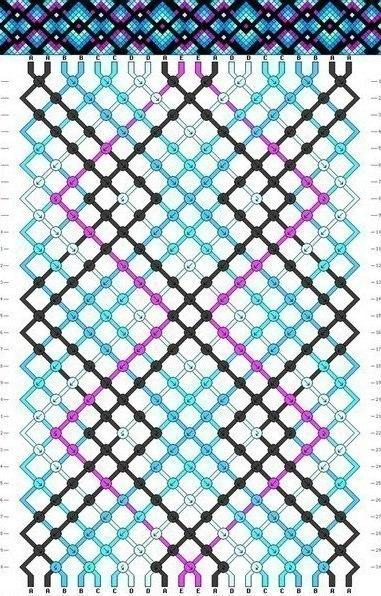 Плетем яркие фенечки. Схемы