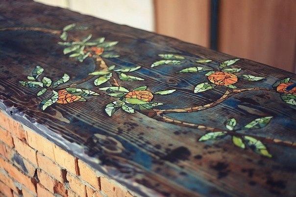 Мозаика стола своими руками