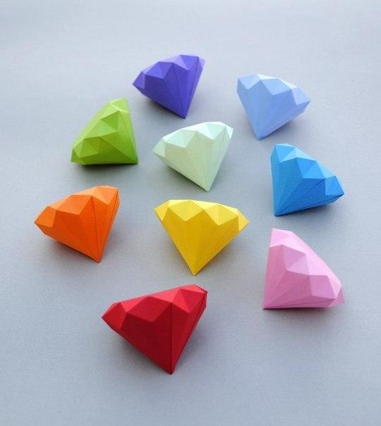 Как из бумаги сделать камни