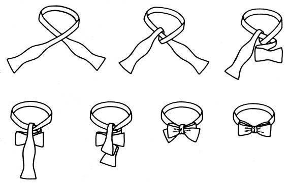 Выкройка галстука-бабочки своими руками
