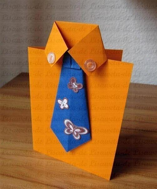 Открытки папе на день рождения своими руками рубашка