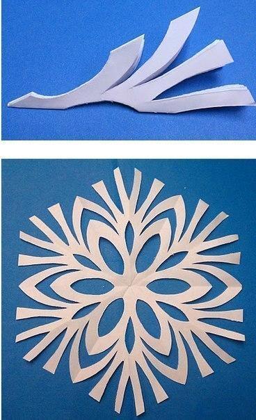 Как быстро сделать быстро и красиво снежинки