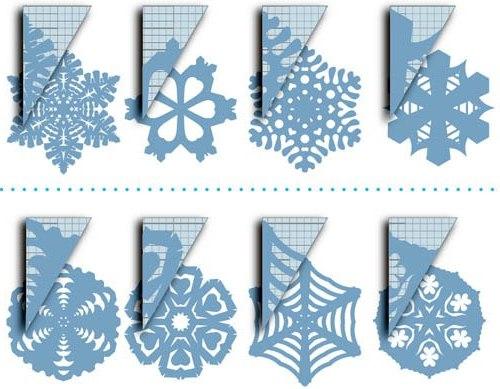 Поделки из бумаги своими руками новогодние снежинки