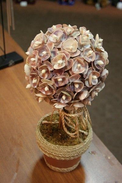 Фото дерева из ракушек своими руками