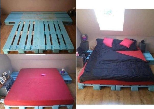 Идеи как сделать кровать своими руками 682