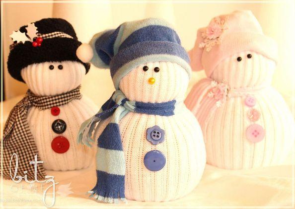 Снеговики своими руками из носков на новый год
