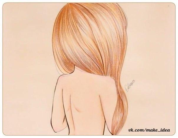 Рисуем девушка сзади