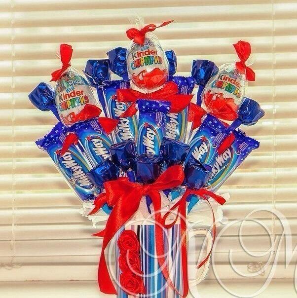 Подарок на день рождения своими руками из шоколадок и