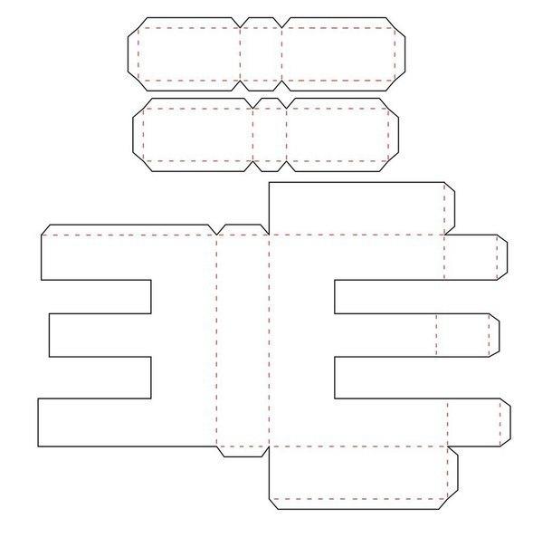 Сделать объёмные буквы из бумаги