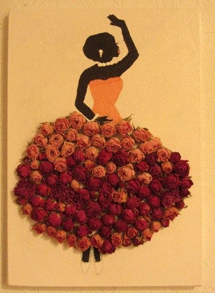 Из лепестков роз поделки