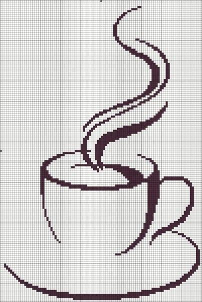 Схемы кофейных вышивок