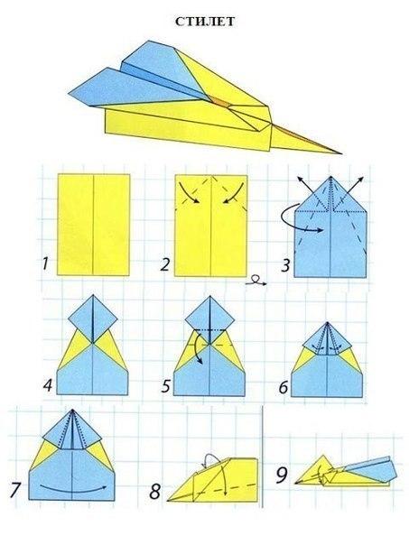 Как правильно сделать бумажный самолётик