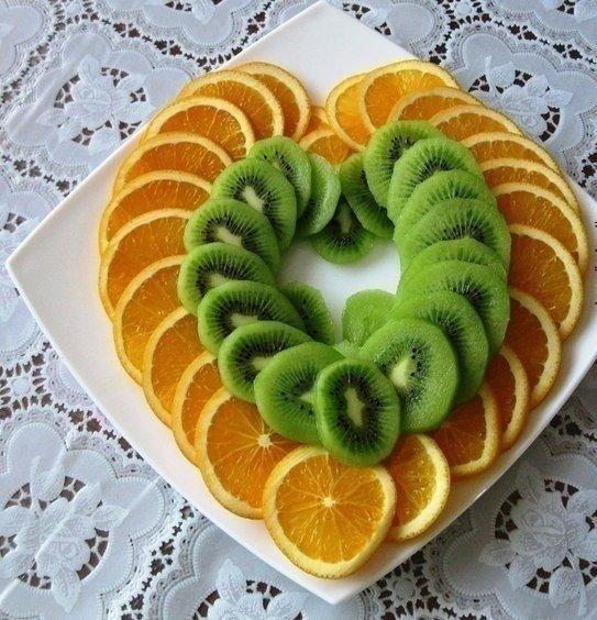 Как уложить фрукты