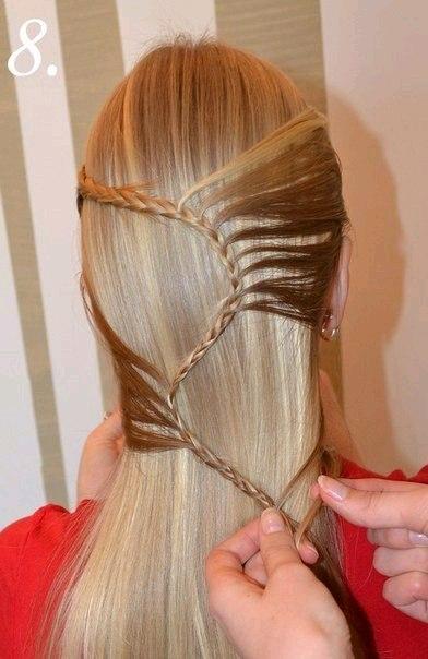 Как сделать красивою прическу для девочки с длинными волосами
