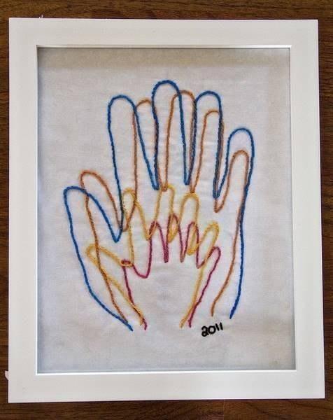 Картины своими руками с детьми схема