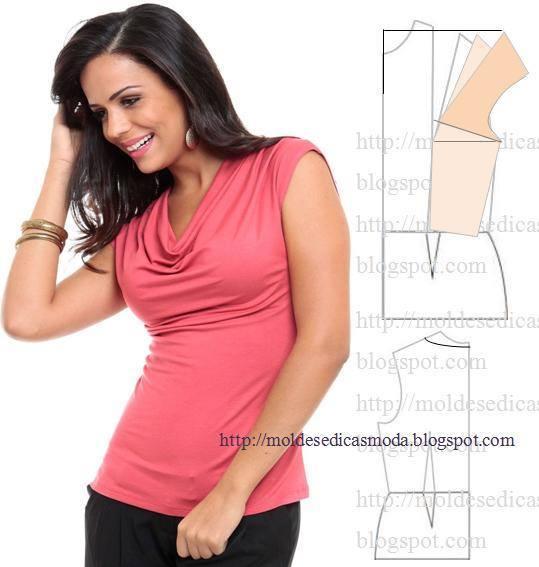 Трикотажные блузки своими руками