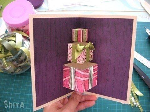 Объемная открытка на день рождения девочке