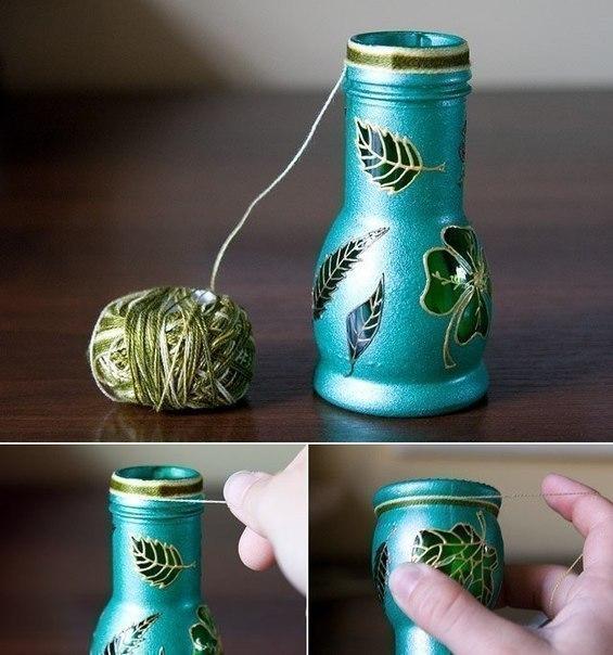 Красивая ваза своими руками из банки