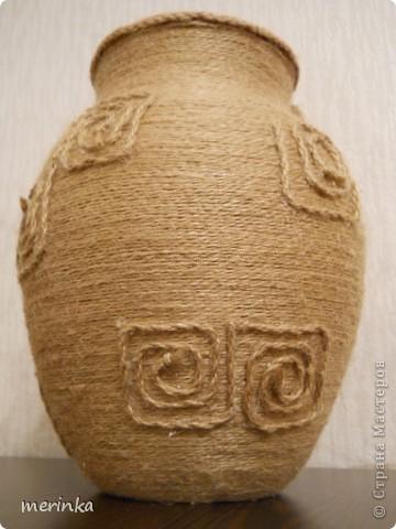 Как сделать вазу из шпагата своими руками