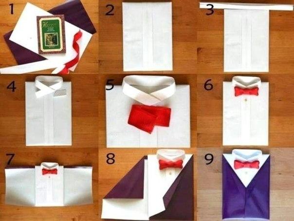Как сделать упаковка рубашка