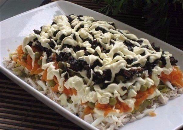 Салат мимоза со скумбрией консервированной