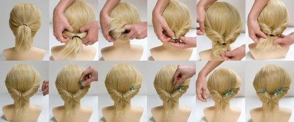 Прически своими руками для коротких волос пошагово