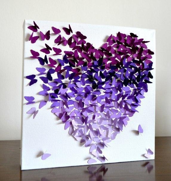 Картина своими руками из бабочек