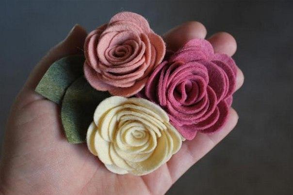 Розы из фетра своими руками