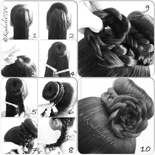 Оригинальная прическа на средние волосы своими руками