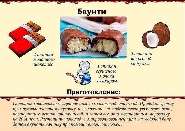 Сладости в домашних условиях простые рецепты
