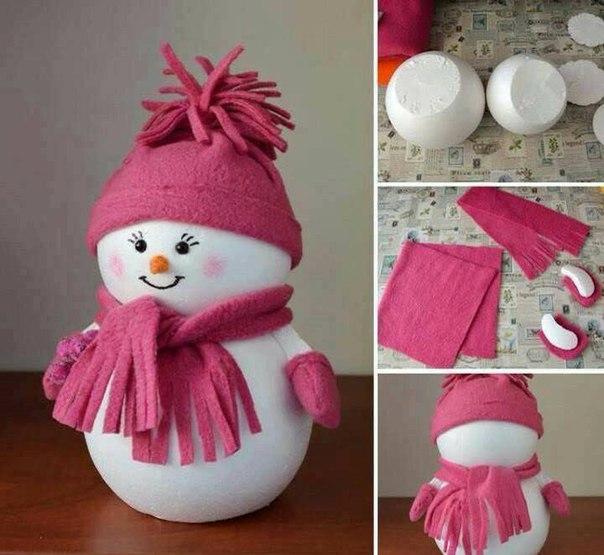 Как сделать снеговика на новый год из бумаги