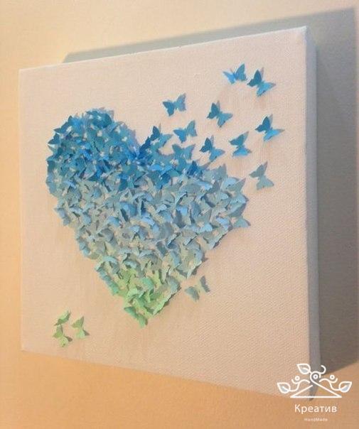 Картина бабочки сделать своими руками