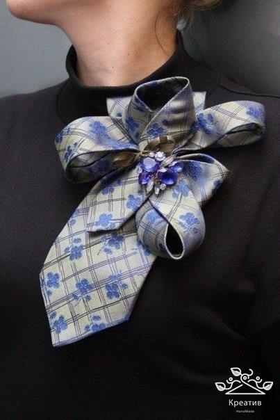 Как из галстука сделать украшение