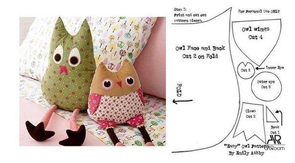 Выкройки для мягких игрушек-подушек своими руками