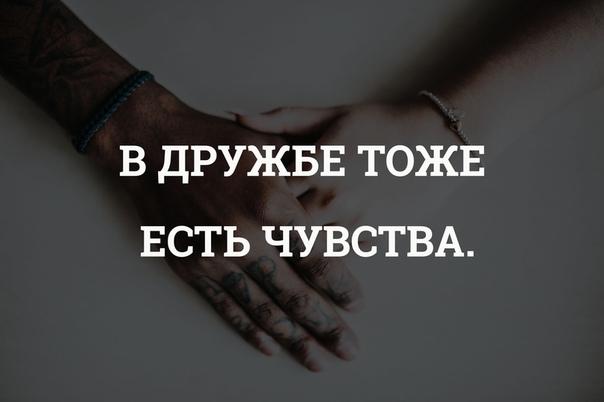 В дружбе тоже есть чувства картинка