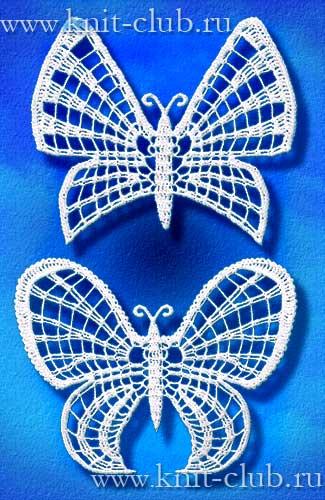 Бабочка из ирландского кружева