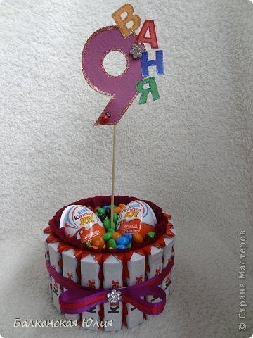 Подарок из конфет для детей на день рождения своими руками