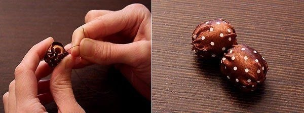 Как сделать бусины из атласных лент