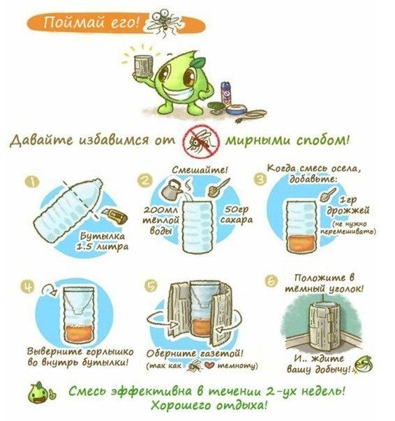 Ловушка для комаров и мошек