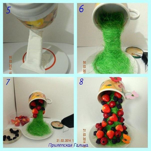 Как сделать топиарий из чашки