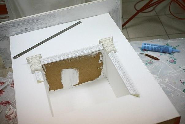 Камин своими руками из коробок пошаговая инструкция белый