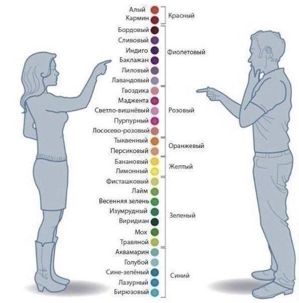 Как мужчины и женщины воспринимают