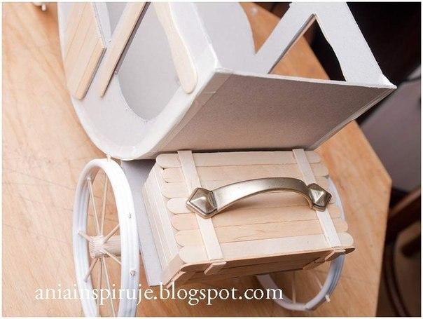 Как сделать карету из картона