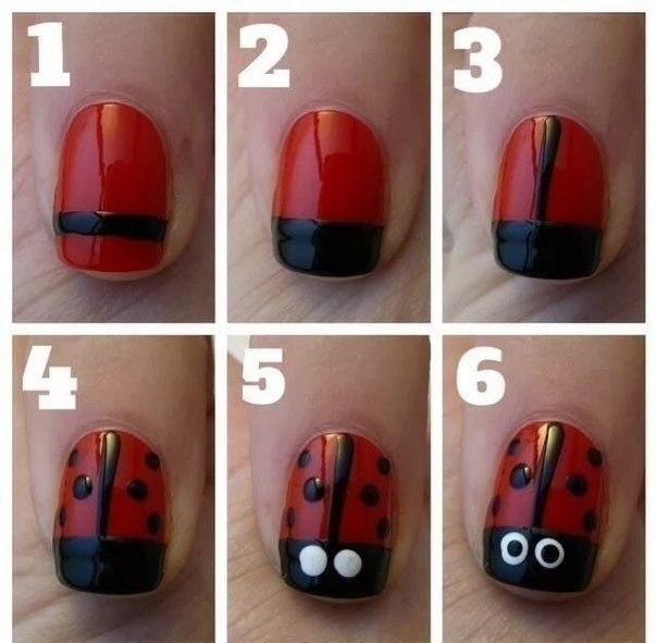Как нарисовать на ногтях в домашних условиях самой